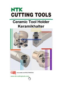 NTK Cutting Tools - Ceramic Toolholders and Milling Cutters catalogue download